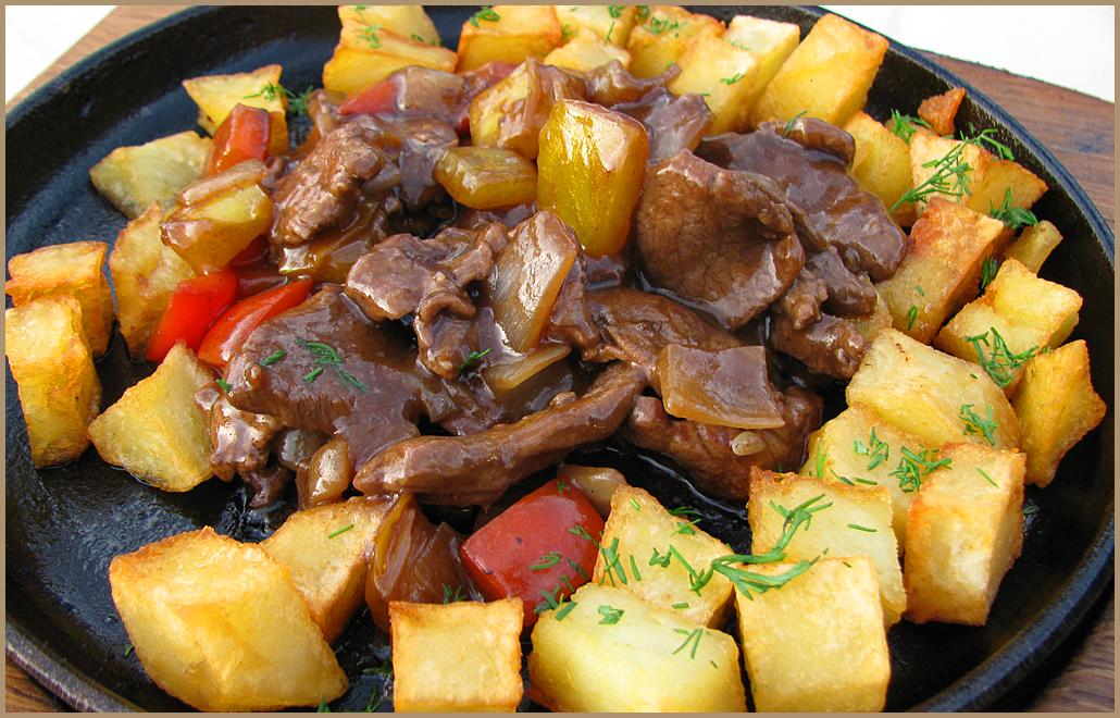 жаркое из свинины рецепт с фото на сковороде