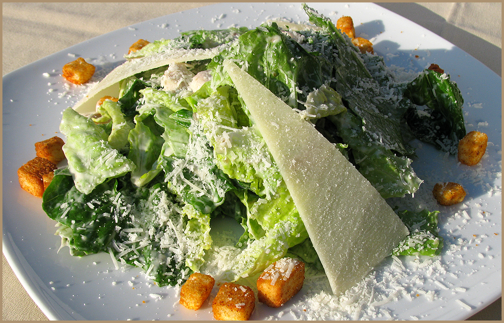 Украшения салата цезарь фото