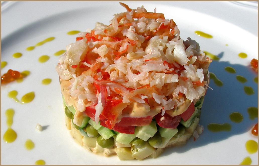 Салат из мяса крабов