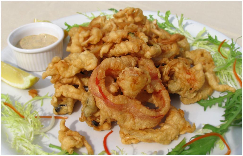 Блюда из морепродуктов в кляре — 4