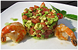 Салат авокадо с креветками