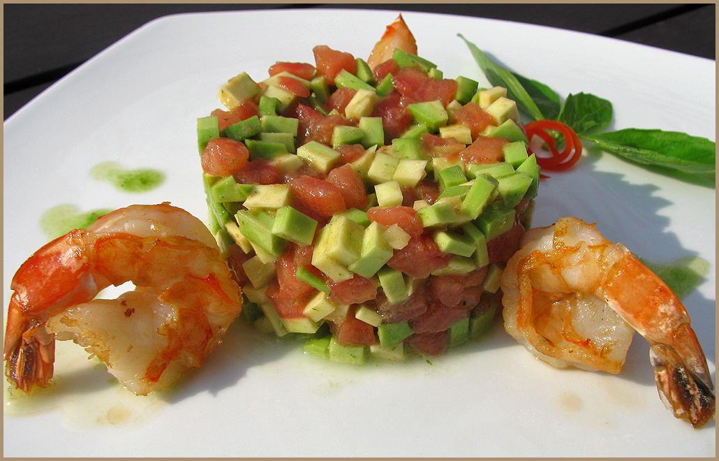 салаты рецепты с креветками и авокадо рецепт