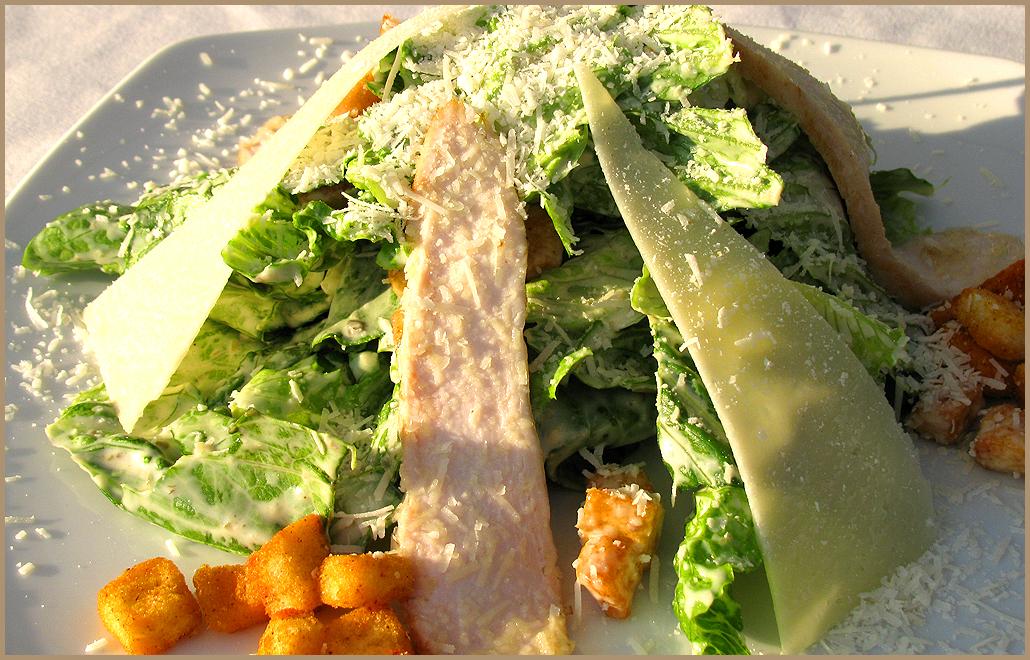 рецепт и фото салата цезарь с употреблением наклонений