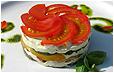 Сырный салат с овощами