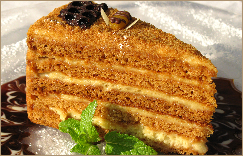 Медовый торт медовик honey cake рецепт