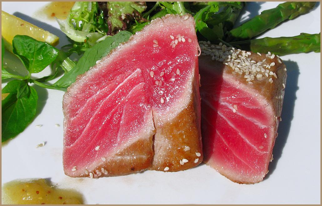 рецепт приготовления тунца в стейках в духовке