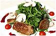 Салат с печенью фуа-гра